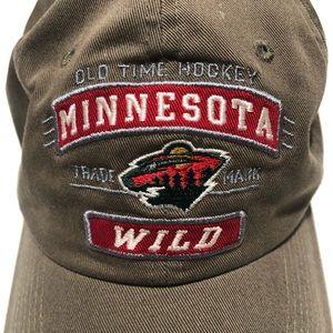 Minnesota Wild Old Time Hockey Adjustable Hat